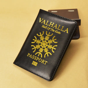 Valhalla Passport Cover Mythological Story Travel Wallet Covers for Passports