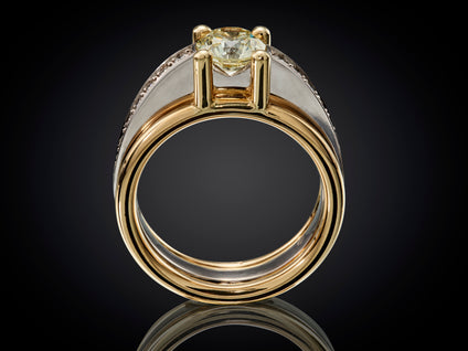 Horizon | 18 karaat bi-color ring met 1.15crt diamant