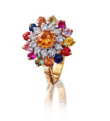 Multicolor ring | De Goudshop