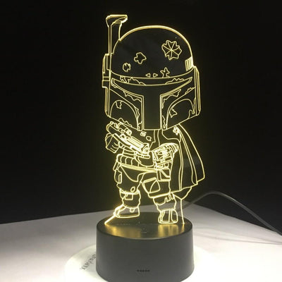 Lampe Star Wars<br> Boba Fett - Yoda Shop