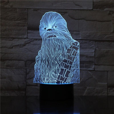 Lampe Star Wars<br> Chewbacca - Yoda Shop