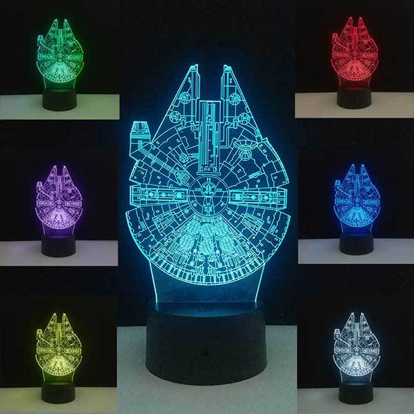 Lampe Star Wars<br>Faucon Millenium - Yoda Shop