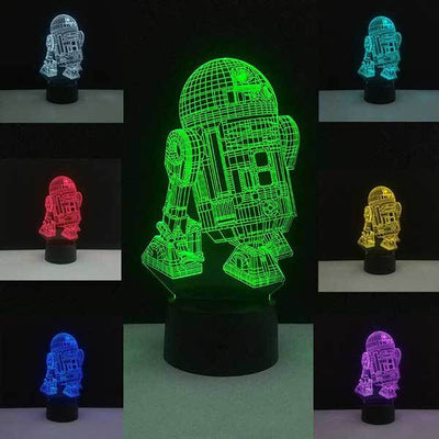 Lampe Star Wars<br> R2D2 - Yoda Shop