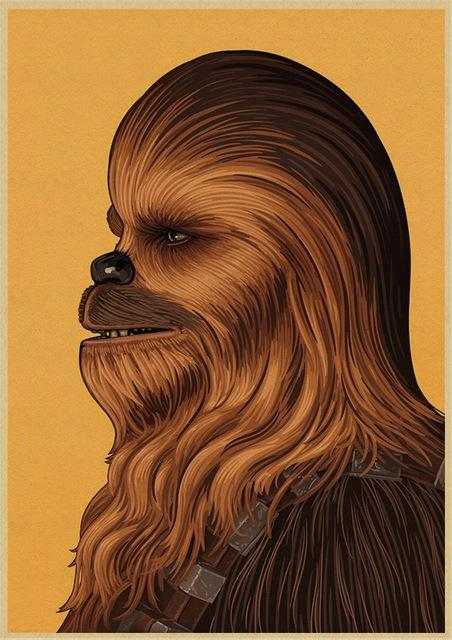 Poster Star Wars Chewbacca - Yoda Shop