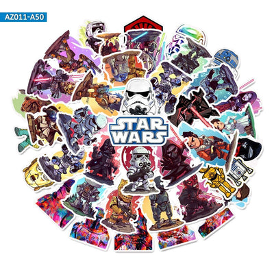 Sticker Star Wars<br> Lot Cartoon - Yoda Shop