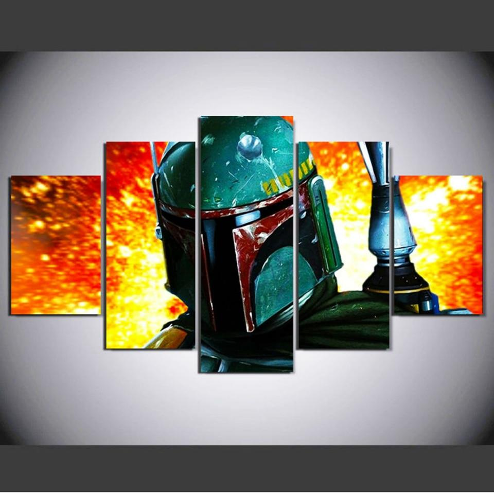 Tableau Star Wars<br> Boba Fett Fire - Yoda Shop