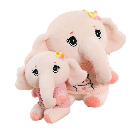 Peluche <br>Grand Éléphant Rose