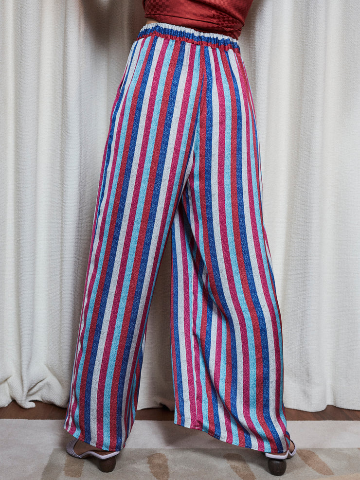 Pantalon fluide large Rainbow