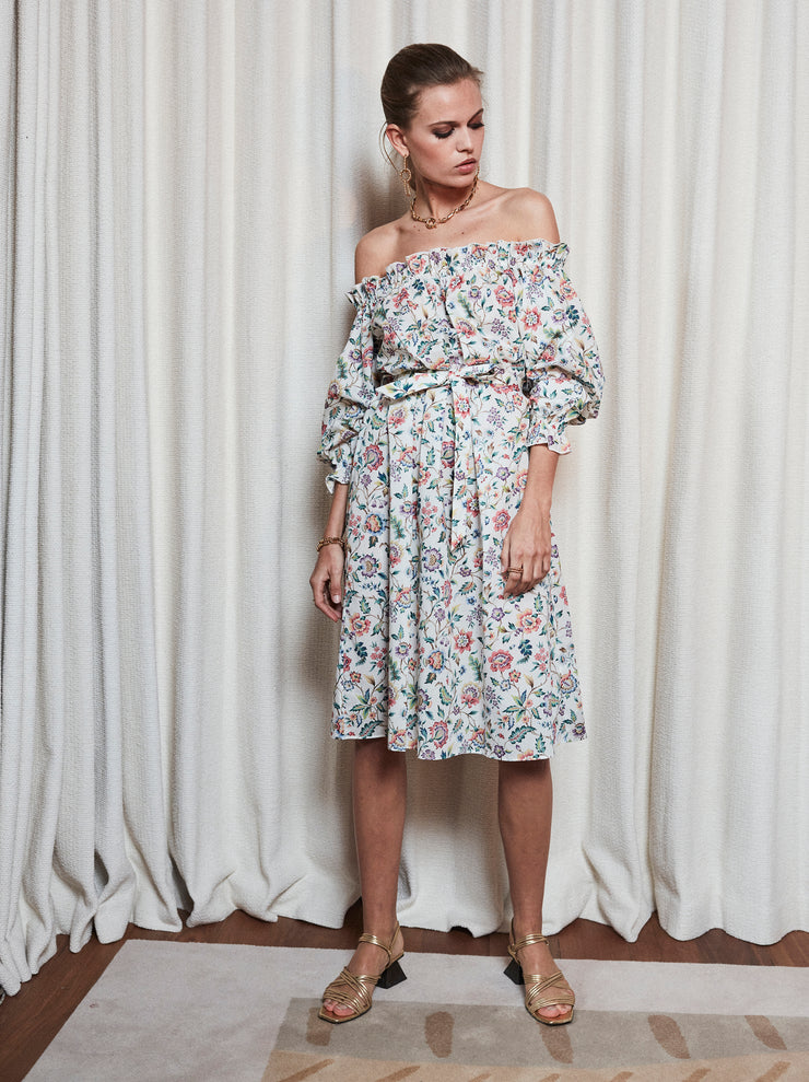 Robe encolure Bardot Liberty