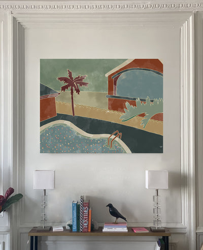 Exclusive painting MAISON PÈRE Motel red