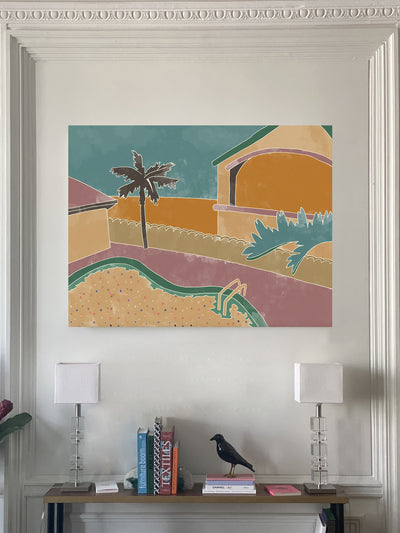 Exclusive painting MAISON PÈRE Motel pink