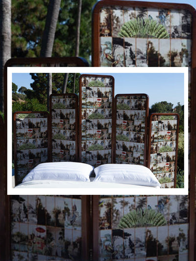Ananbô X Maison Père exclusive print Wooden screen/Headboard
