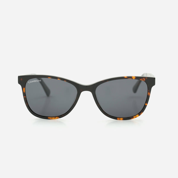 Cambium Hana Sunglasses - Recycled Plastic & Wood Frame Classic Black