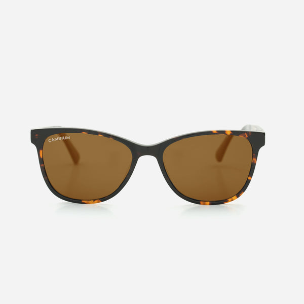 Cambium Hana Sunglasses - Recycled Plastic & Wood Frame Vintage Brown