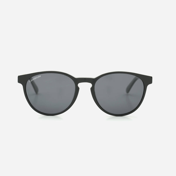 Cambium Maui Sunglasses - Recycled Plastic And Wood Frame Classic Black