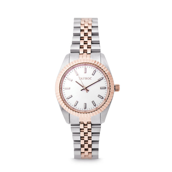 Tayroc Launton Silver Rose 31mm Analog Watch
