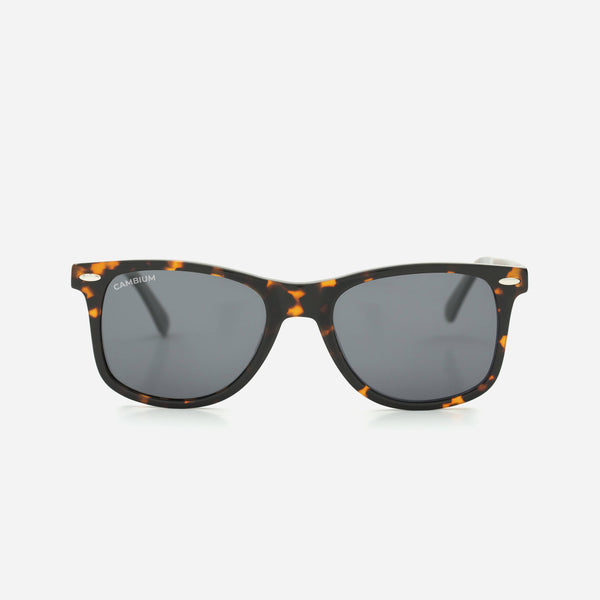 Cambium O'ahu Sunglasses - Recycled Plastic & Wood Frame Classic Black