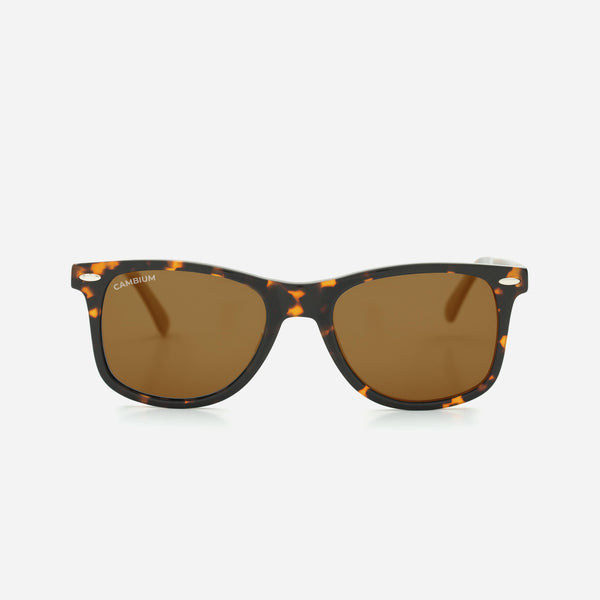 Cambium O'ahu Sunglasses - Recycled Plastic & Wood Frame Vintage Brown