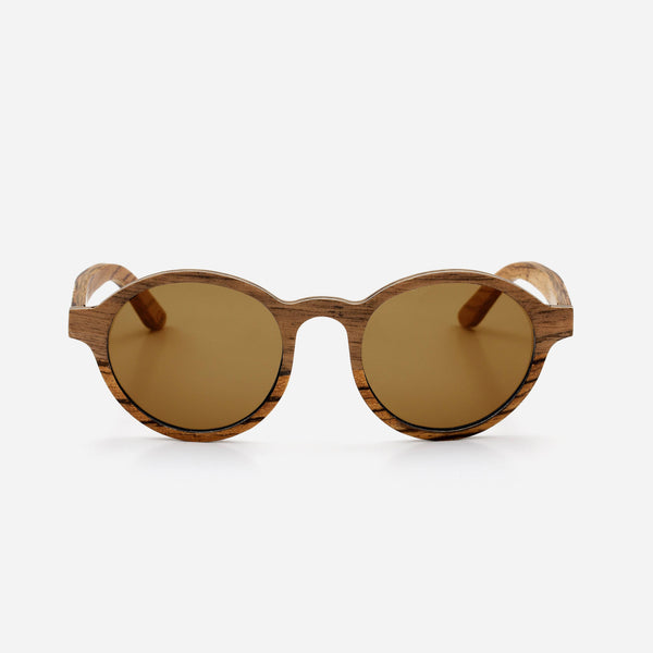 Cambium Lagos Sunglasses - Wooden Frame Vintage Brown