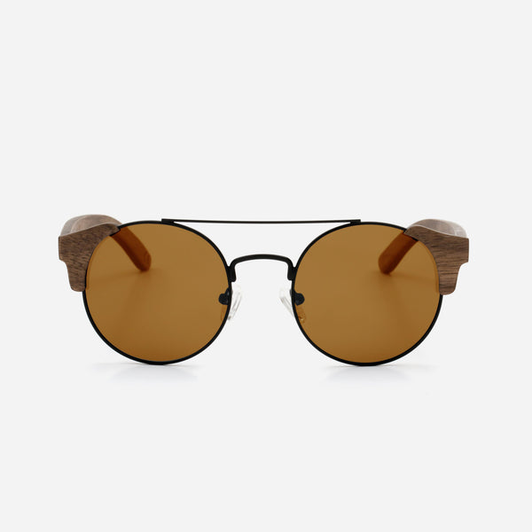 Cambium Nazaré Sunglasses - Wooden Frame Vintage Brown