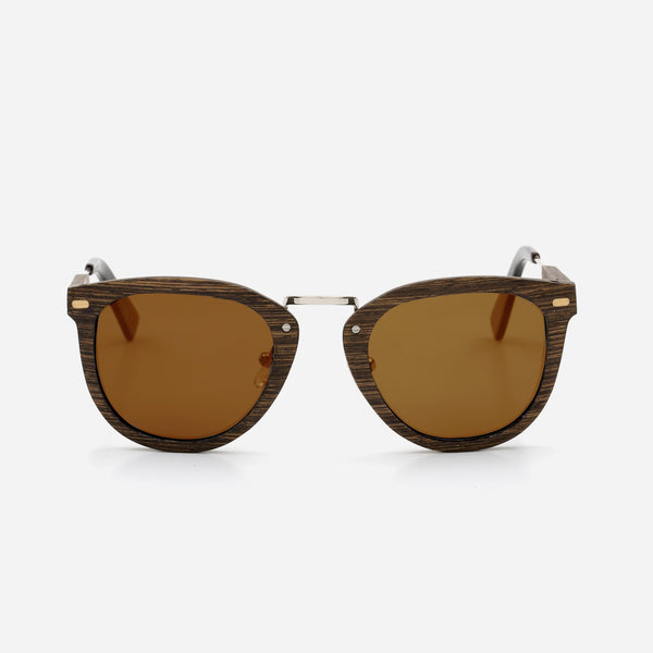 Cambium Tofino Sunglasses - Wooden Frame Vintage Brown