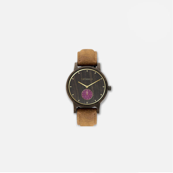 Botanica Violet Watch - 36mm Edition Vegan Tan