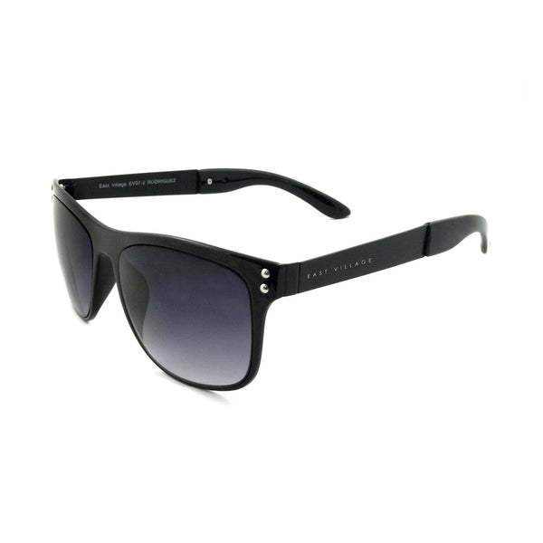 East Village Metal 'Rodriguez' Wayfarer Shape Sunglasses In Black
