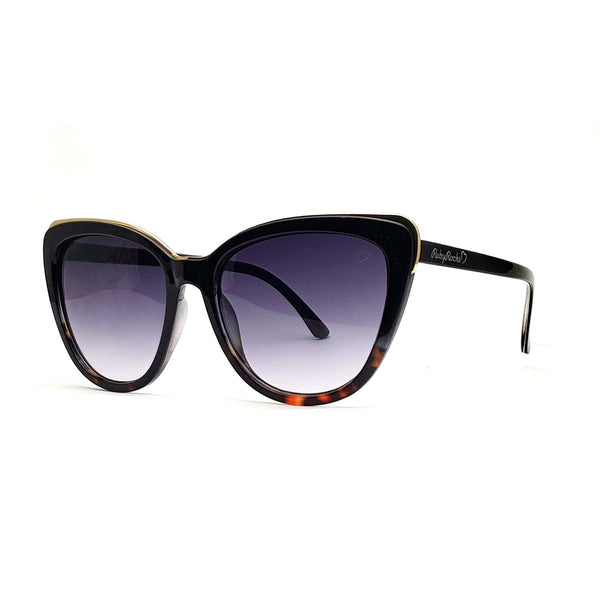 Ruby Rocks 'Roseanne' Cateye Sunglasses In Black & Tort