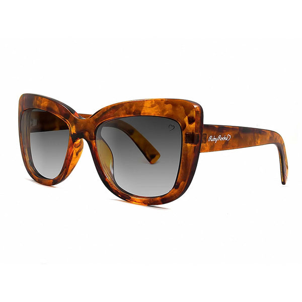 Ruby Rocks Tortoiseshell 'Cannes' Angled Cateye
