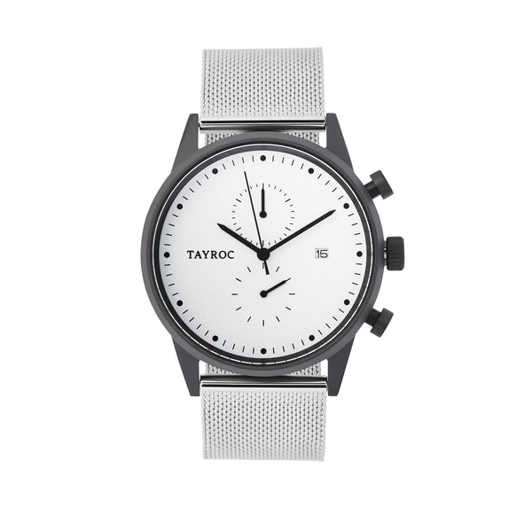 Tayroc Impression Chronograph Watch WHITE/SILVER