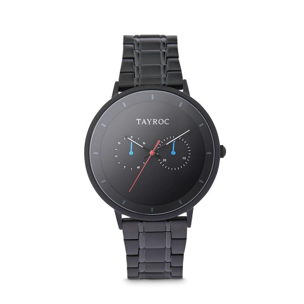 Tayroc Holte 42mm Multi Function Sports Watch BLACK/BLACK