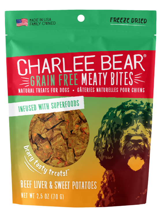 Charlee Bear Meaty Bites - Beef Liver with Sweet Potato - Mr Mochas Pet Supplies