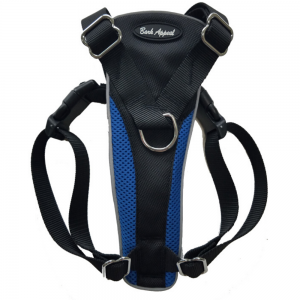 Bark Appeal Reflective Control Harness Blue - Mr Mochas Pet Supplies