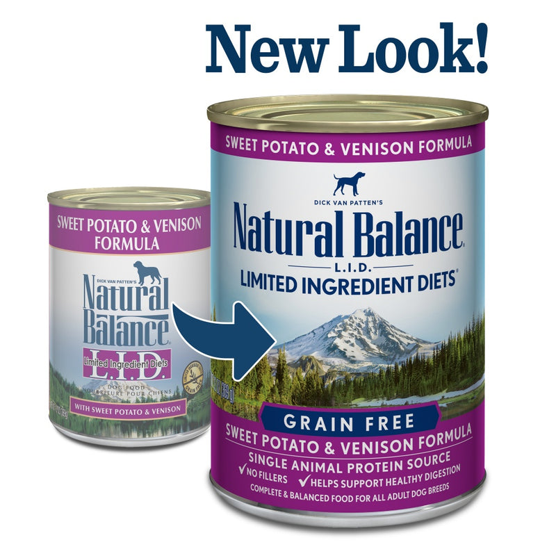 Natural Balance L.I.D. Limited Ingredient Diets Sweet Potato & Venison Canned Dog Food - Mr Mochas Pet Supplies
