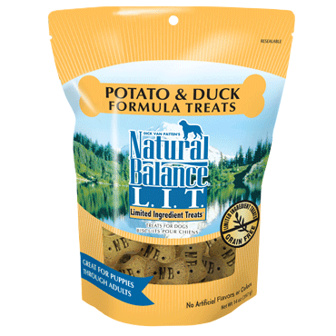 Natural Balance L.I.T. Limited Ingredient Treats Potato and Duck Dog Treats - Mr Mochas Pet Supplies
