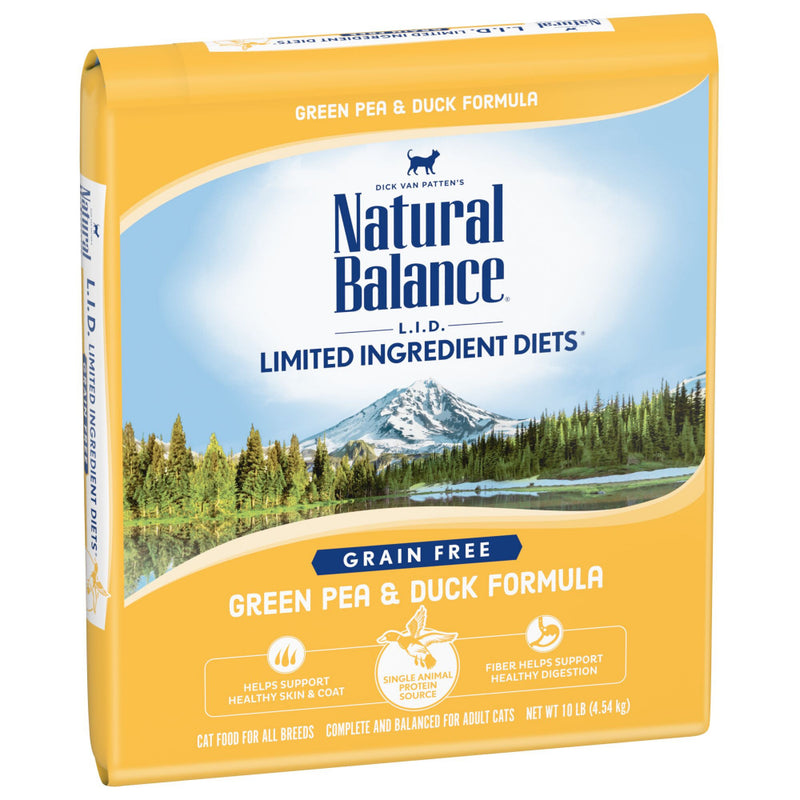Natural Balance L.I.D. Limited Ingredient Diets Green Pea & Duck Dry Cat Food - Mr Mochas Pet Supplies