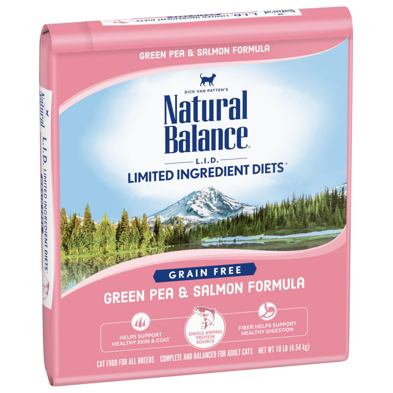 Natural Balance L.I.D. Limited Ingredient Diets Green Pea & Salmon Dry Cat Food - Mr Mochas Pet Supplies
