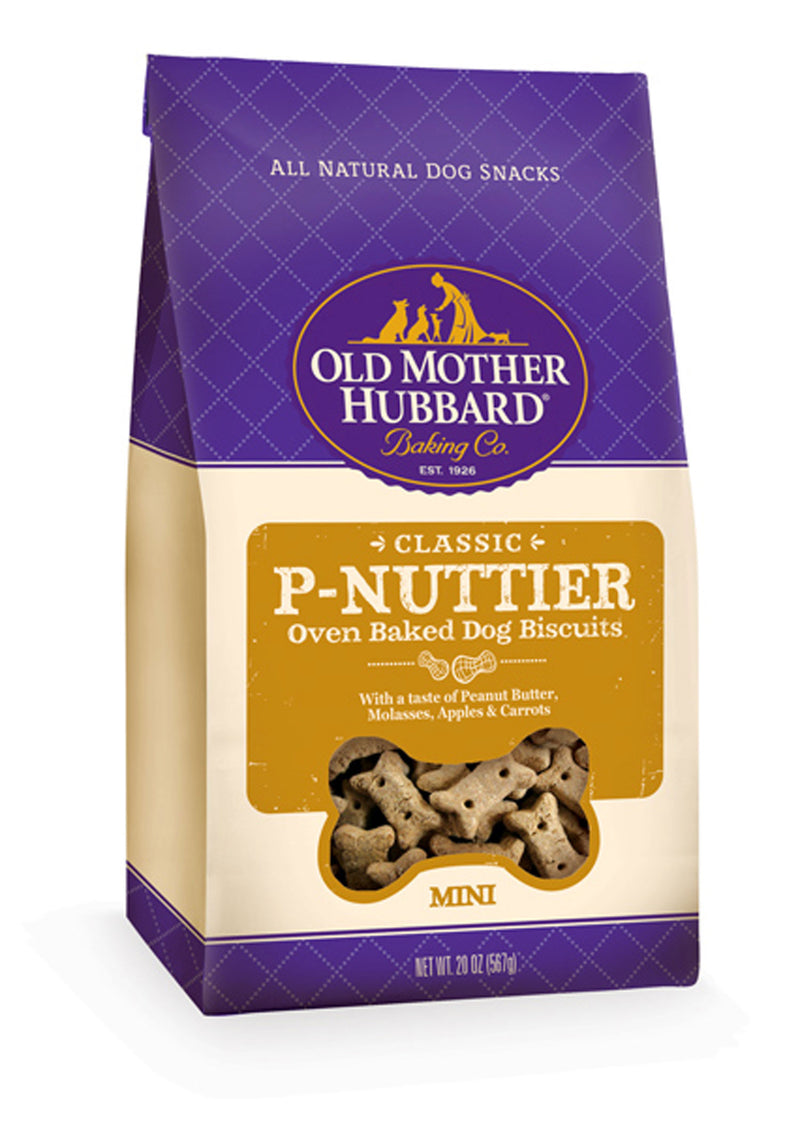 Old Mother Hubbard Crunchy Classic Natural P-Nuttier Mini Biscuits Dog Treats - Mr Mochas Pet Supplies