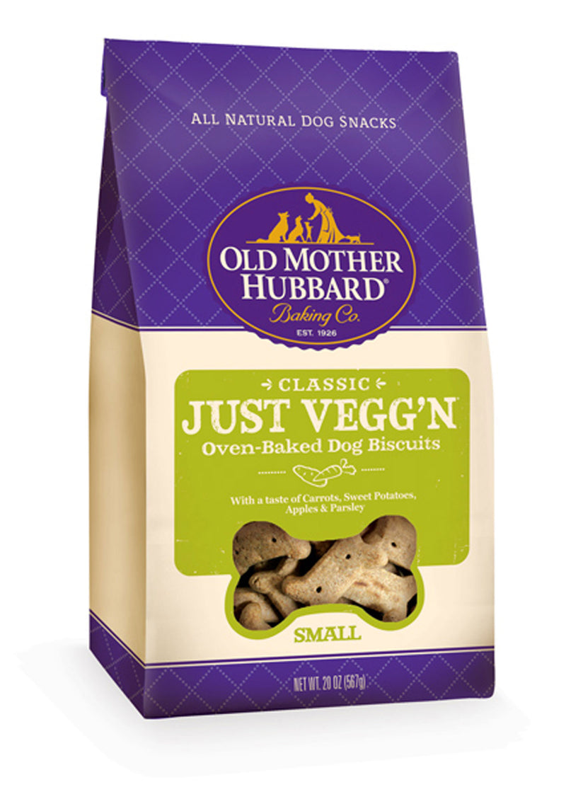 Old Mother Hubbard Crunchy Classic Natural Just Veg'N Biscuits Dog Treats - Mr Mochas Pet Supplies