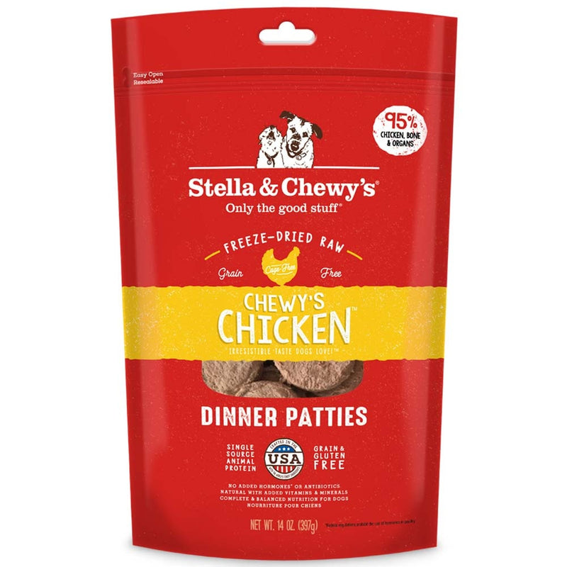 Stella & Chewy's Chewy's Chicken Grain Free Dinner Patties Freeze Dried Raw Dog Food - Mr Mochas Pet Supplies