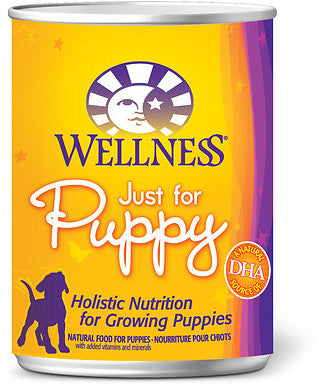 Wellness Complete Health Natural Just for Puppy Chicken and Salmon Recipe Wet Canned Dog Food - Mr Mochas Pet Supplies
