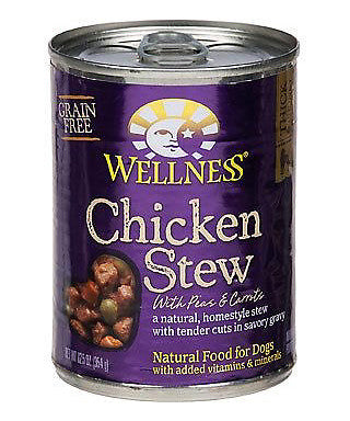 Wellness Grain Free Natural Chicken Stew with Peas and Carrots Wet Canned Dog Food - Mr Mochas Pet Supplies
