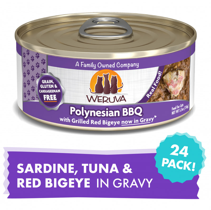 Weruva Polynesian BBQ With Grilled Red Big Eye Canned Cat Food - Mr Mochas Pet Supplies