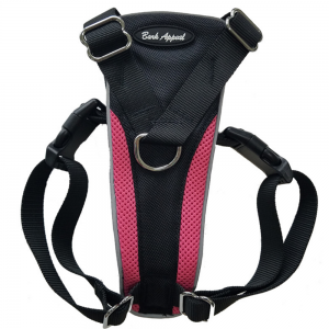 Bark Appeal Reflective Control Harness Pink - Mr Mochas Pet Supplies