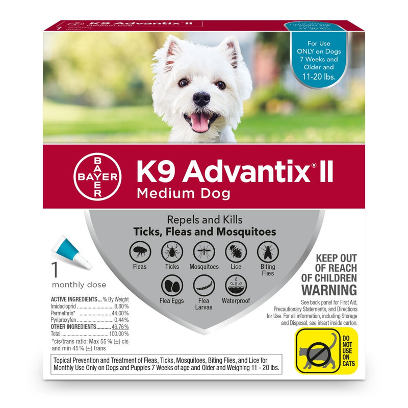 Bayer K9 Advantix II Medium Dog - Mr Mochas Pet Supplies