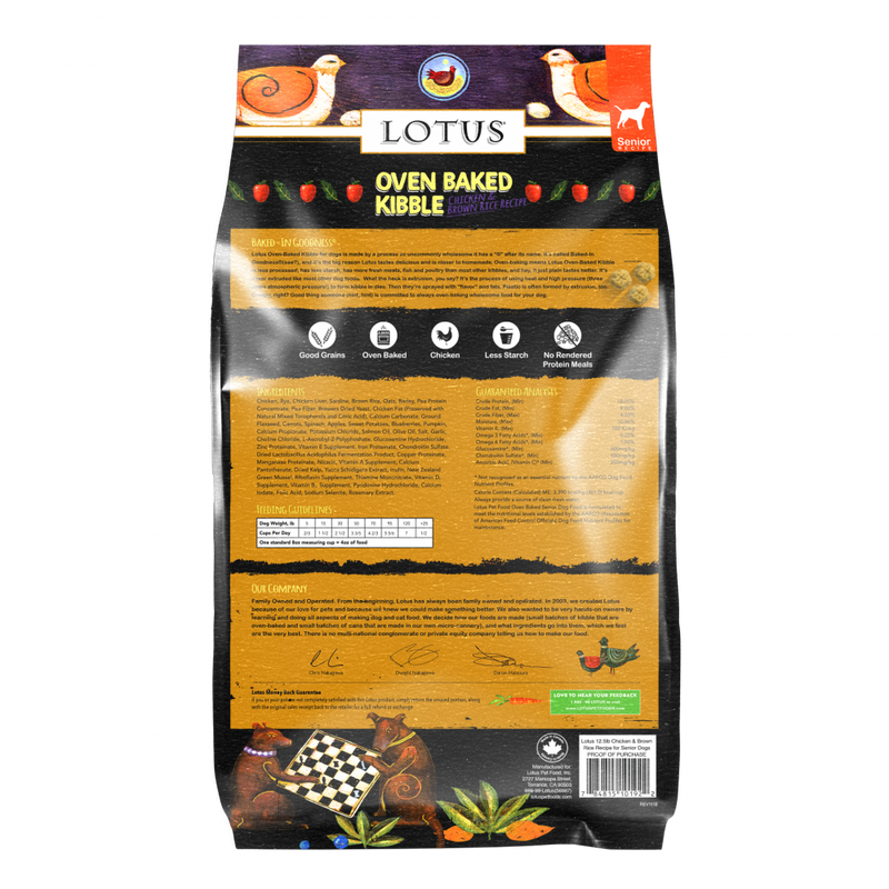 Lotus Oven Baked Senior Recipe Dry Dog Food - Mr Mochas Pet Supplies