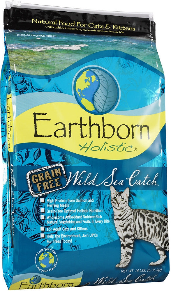 Earthborn Holistic Wild Sea Catch Grain Free Natural Cat Food - Mr Mochas Pet Supplies