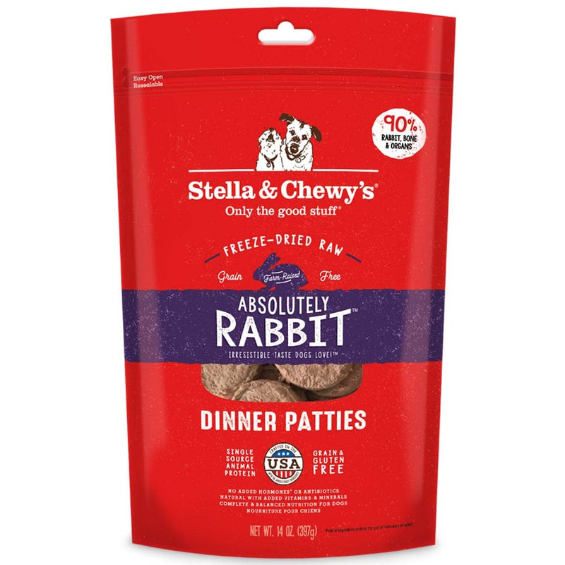 Stella & Chewy's Absolutely Rabbit Grain Free Dinner Patties Freeze Dried Raw Dog Food - Mr Mochas Pet Supplies