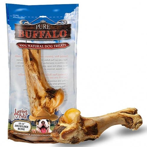 Pure Buffalo Shoulder Bone Dog Treats - Mr Mochas Pet Supplies