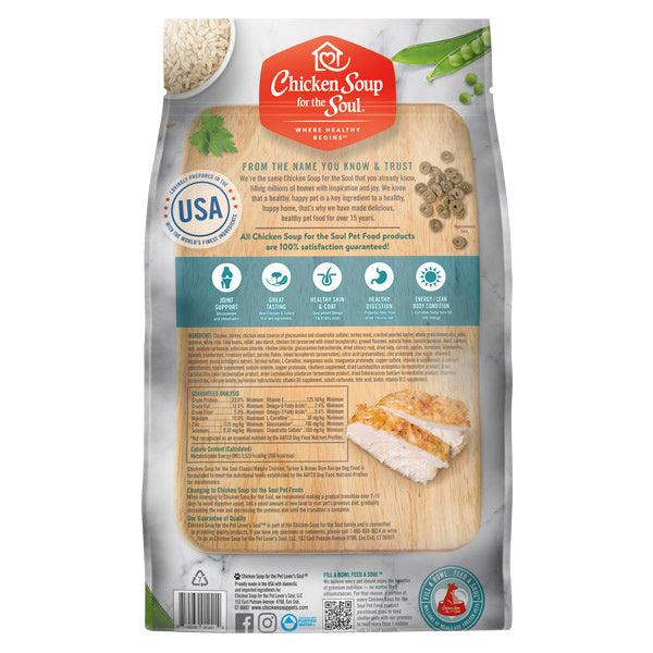 Chicken Soup For The Soul Mature Recipe with Chicken, Turkey & Brown Rice Dry Dog Food - Mr Mochas Pet Supplies